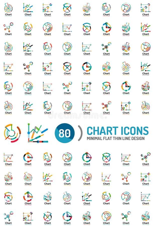 Coleção mega de logotipos do negócio da carta ilustração do vetor