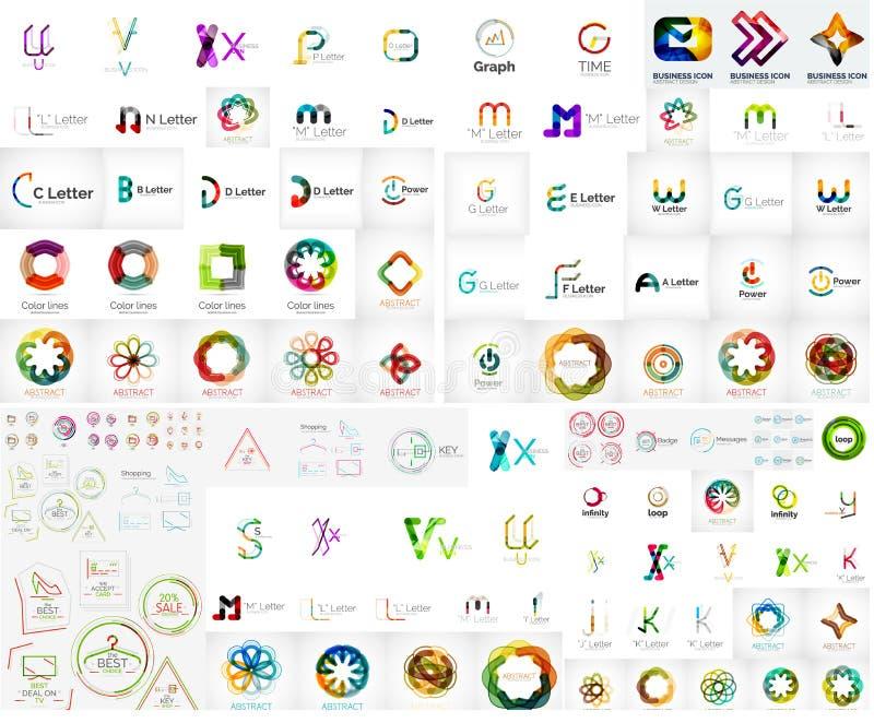 Coleção mega do logotipo ilustração stock
