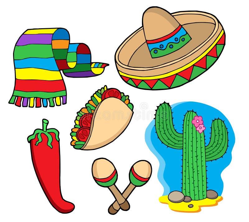 Coleção mexicana ilustração stock