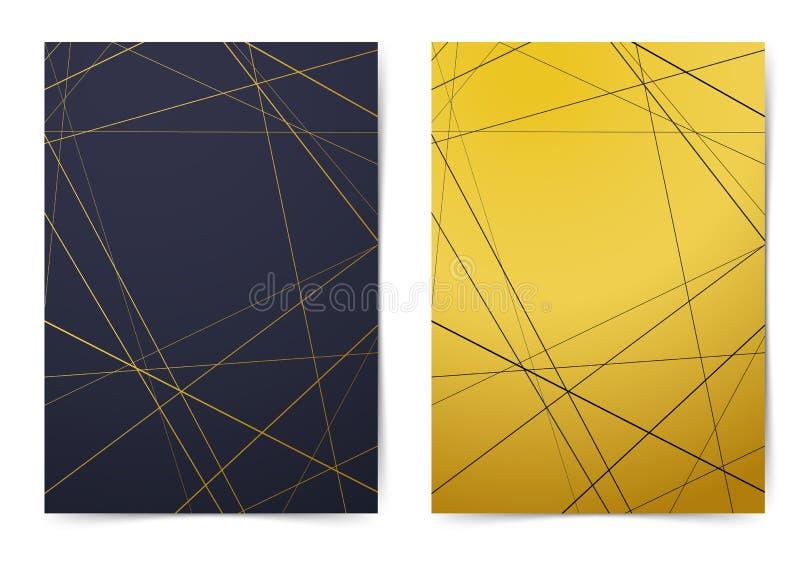 Coleção moderna do dobrador com linha contemporânea p do estilo do art deco ilustração stock
