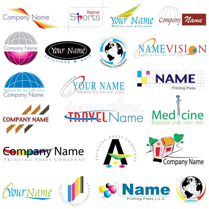 Coleção moderna dos logotipos ilustração stock