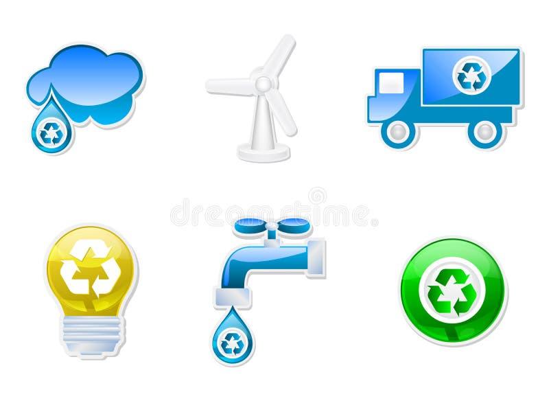 Coleção Recyclable dos símbolos ilustração stock
