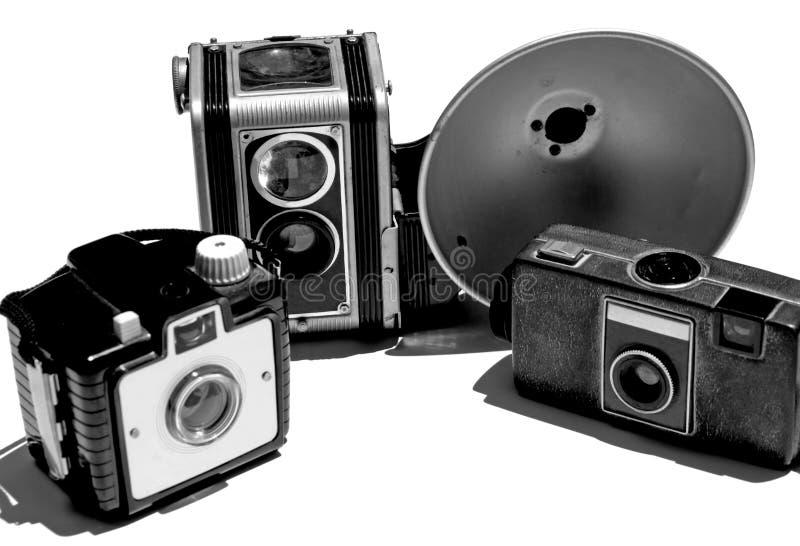 Coleção retro/do vintage câmera imagem de stock