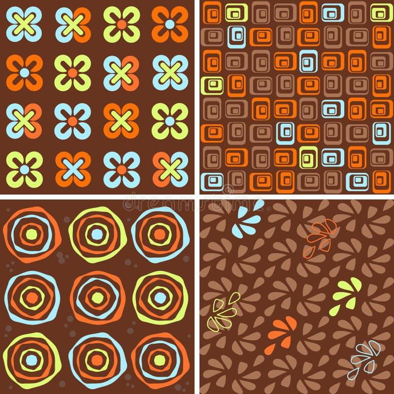 Coleção sem emenda do chocolate ilustração stock