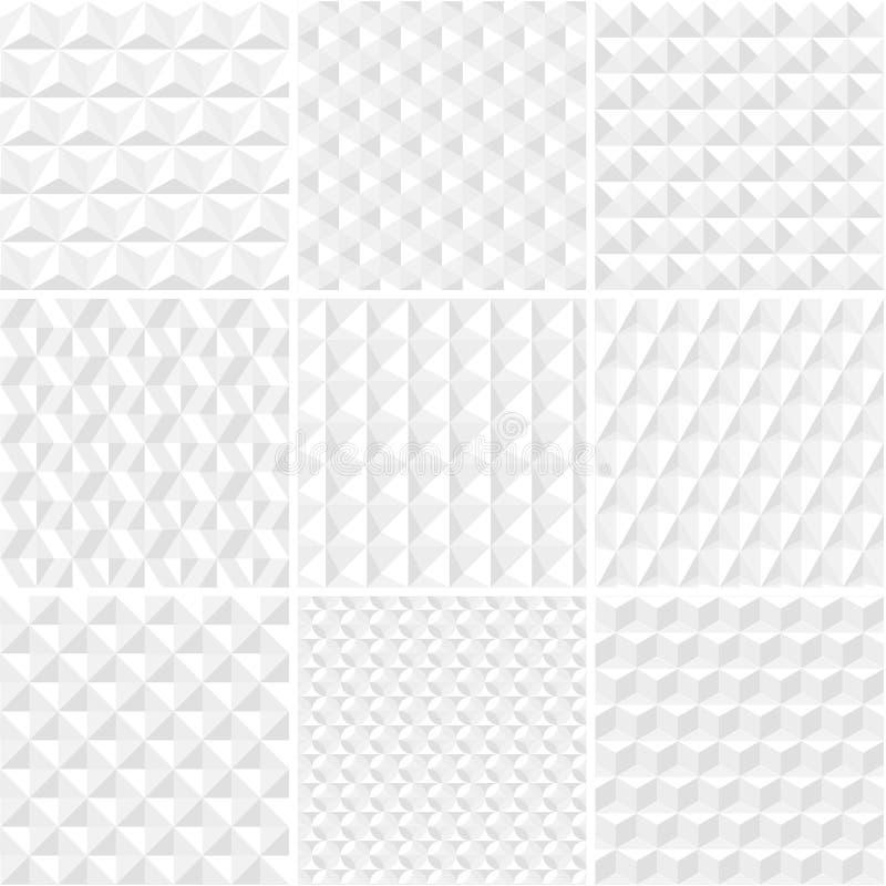 Coleção sem emenda dos testes padrões do origâmi do vetor ilustração stock