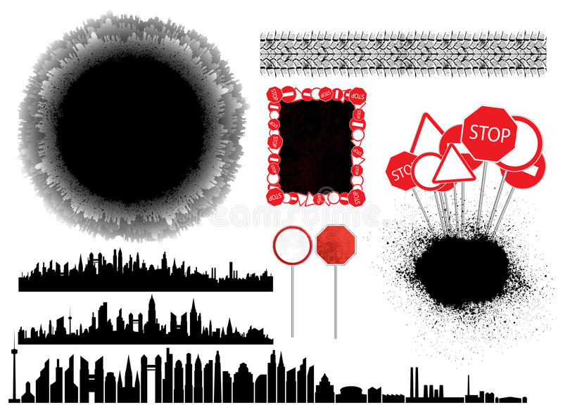 Coleção urbana ilustração do vetor