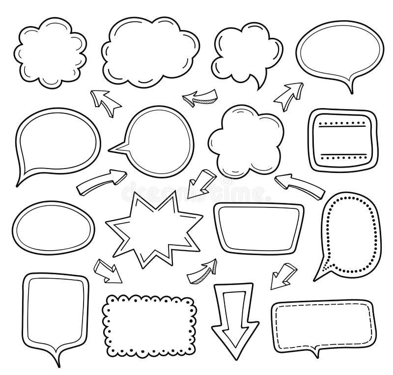 Coleção vazia do balão de discurso ilustração do vetor