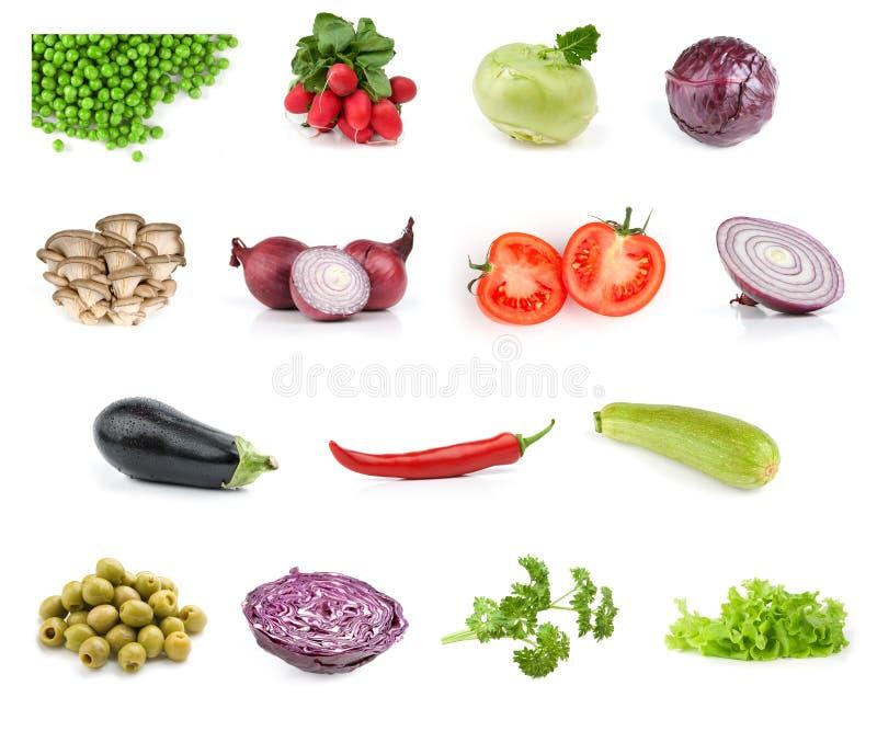 Coleção vegetal do alimento imagens de stock royalty free