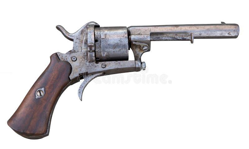Coleção velha do revólver antigo imagem de stock