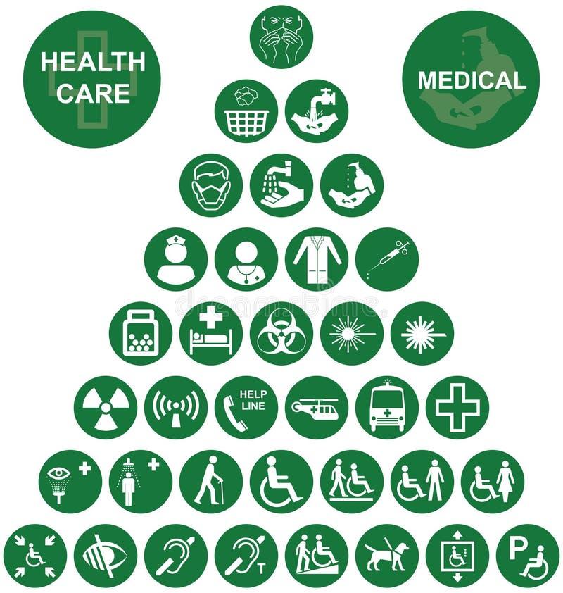 Coleção vermelha médica e dos cuidados médicos do ícone ilustração do vetor