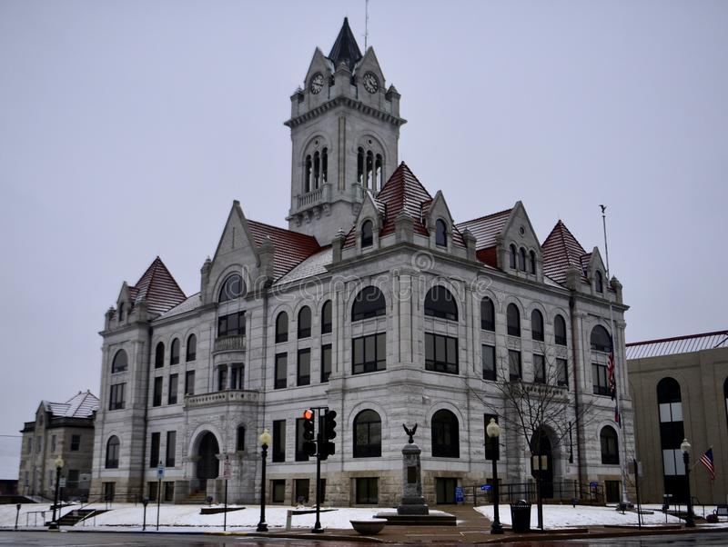 Cole County Courthouse na neve imagens de stock royalty free