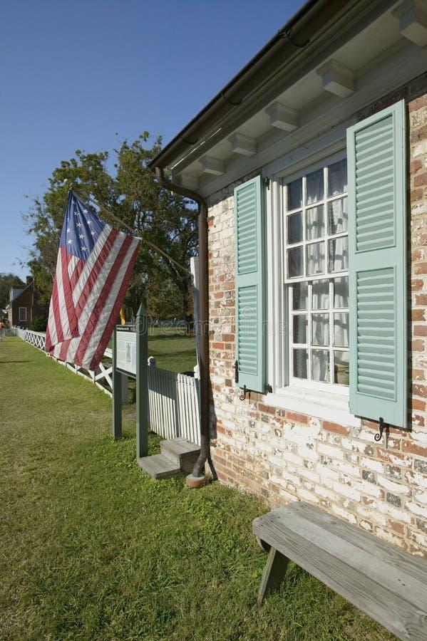 Cole Digges House, construído cerca de 1720 em Yorktown, reside no parque histórico nacional colonial, triângulo histórico, Virgí imagem de stock