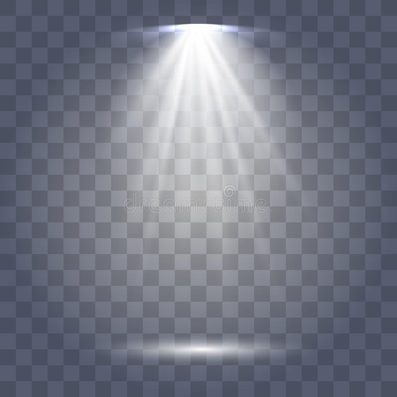 Cole??o da ilumina??o da cena, efeitos transparentes ilustração do vetor