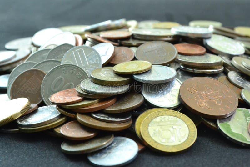 Cole??o de moedas foto de stock royalty free