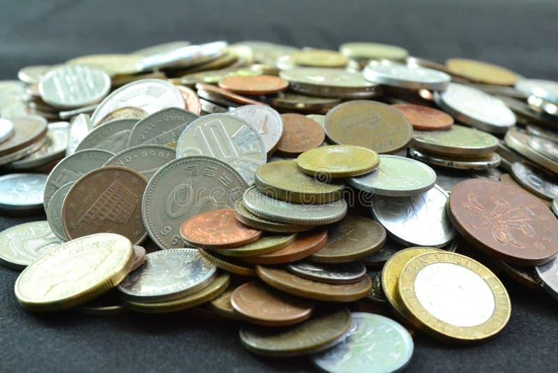 Cole??o de moedas imagens de stock royalty free