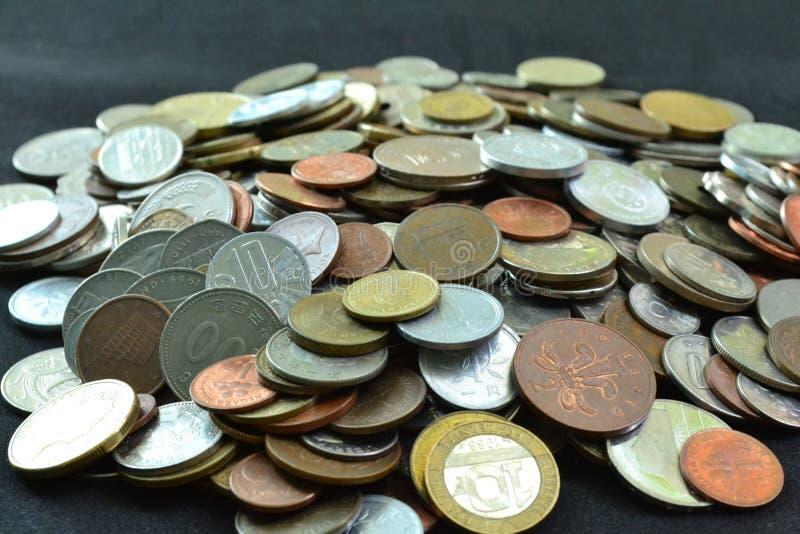 Cole??o de moedas fotografia de stock royalty free
