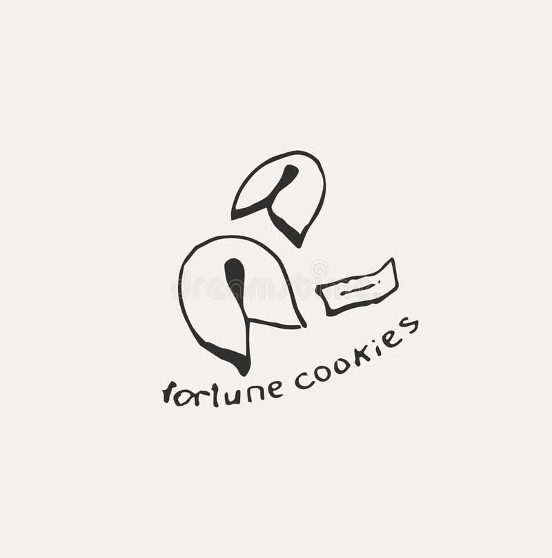 Cole??o do alimento japon?s diferente Linha tirada m?o grupo da arte do alimento ilustração royalty free