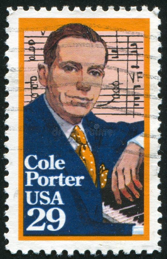 Cole Porter. UNITED STATES - CIRCA 1991: stamp printed by United states, shows Cole Porter, circa 1991 stock image