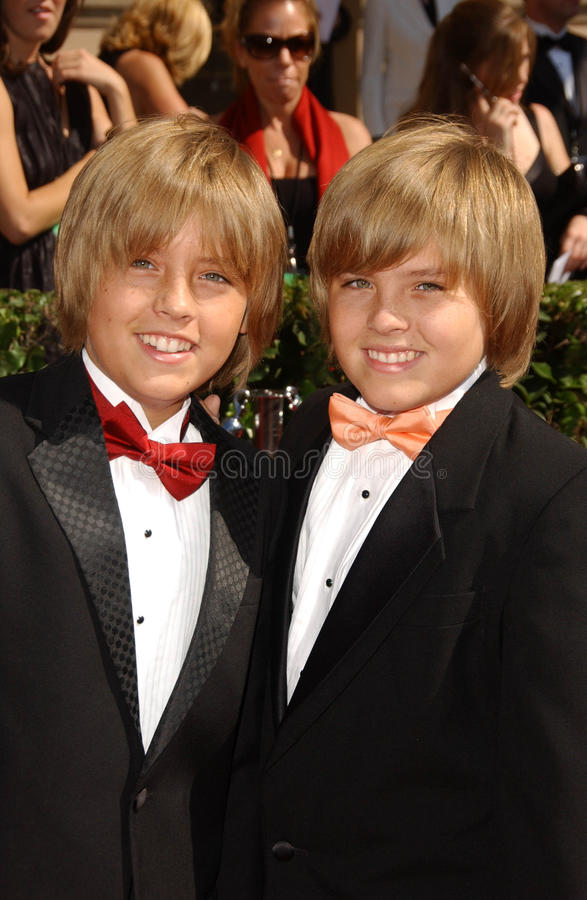 Cole Sprouse, Dylan Sprouse imagens de stock royalty free
