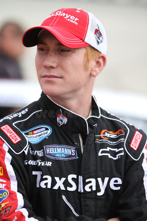 Cole Whitt at track stock image