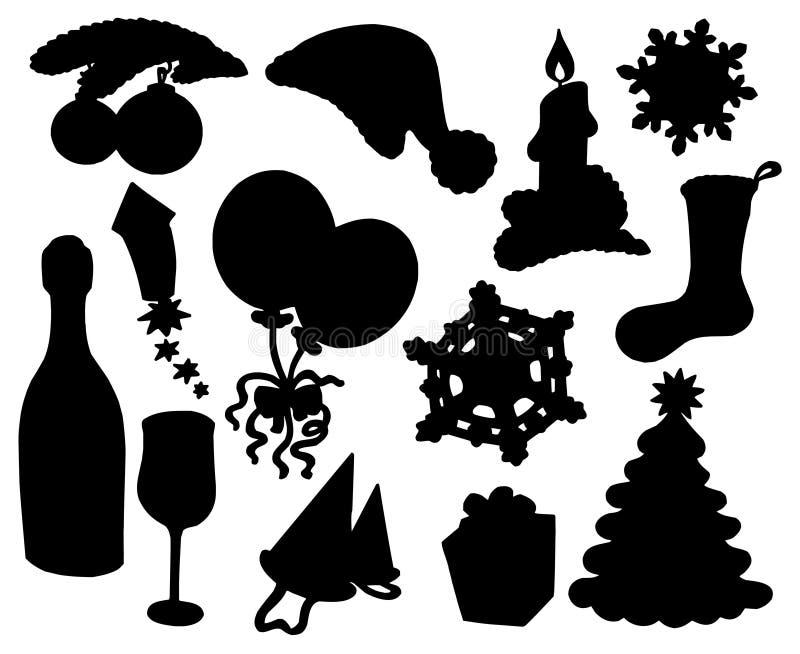 Colección 03 de la silueta de la Navidad libre illustration