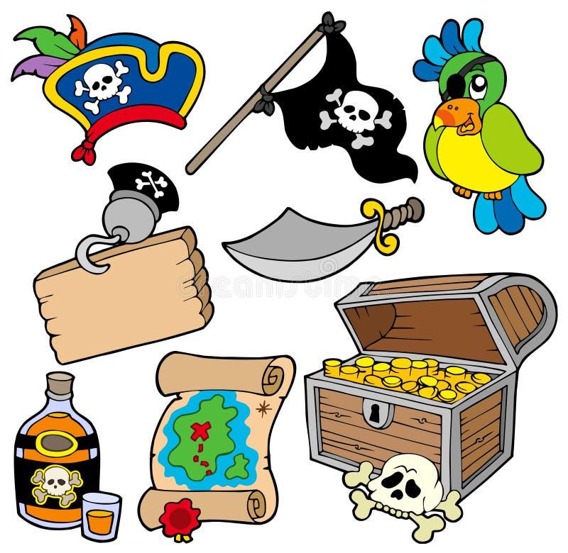 Colección 10 del pirata ilustración del vector
