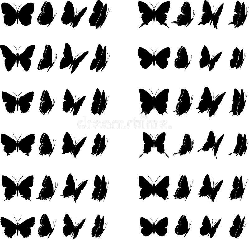 Colección 2 de la mariposa ilustración del vector