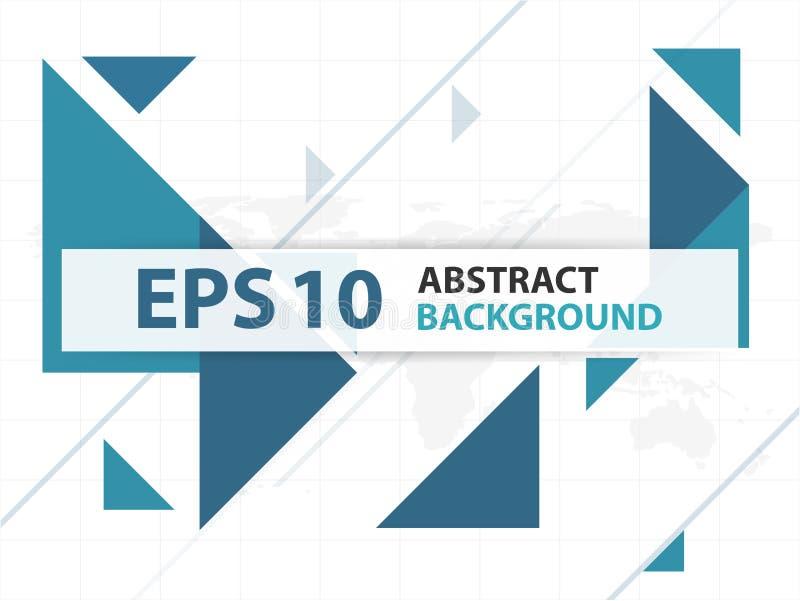 Colección abstracta azul del diseño del material de base del triángulo, plantilla geométrica del fondo de la forma para la colecc libre illustration