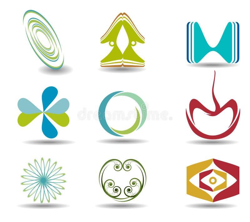 Colección abstracta de la insignia libre illustration