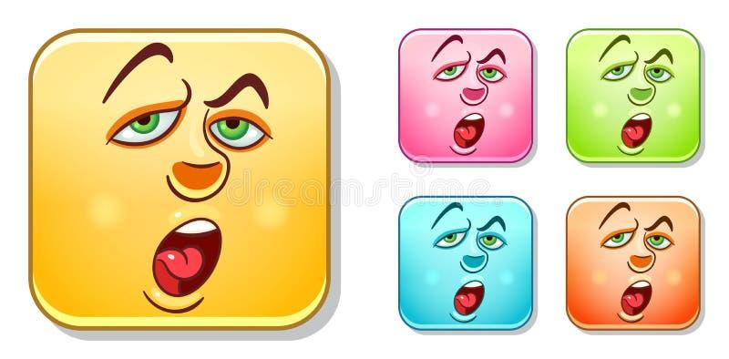Colección agujereada de los Emoticons libre illustration