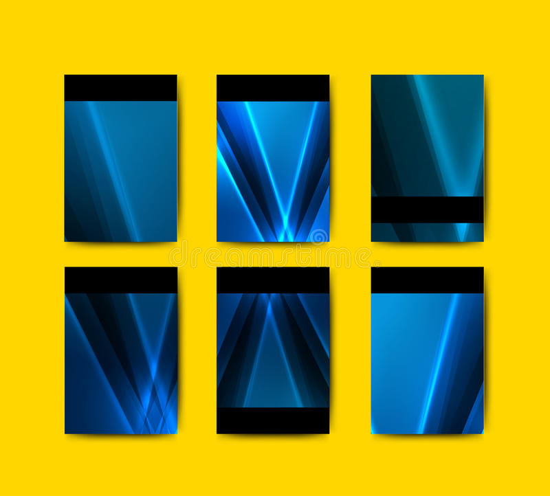Colección azul de las plantillas del folleto libre illustration