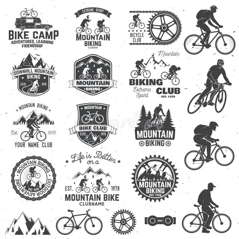 Colección biking de la montaña Ilustración del vector stock de ilustración