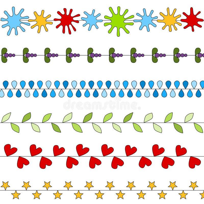 Colección colorida de los divisores libre illustration