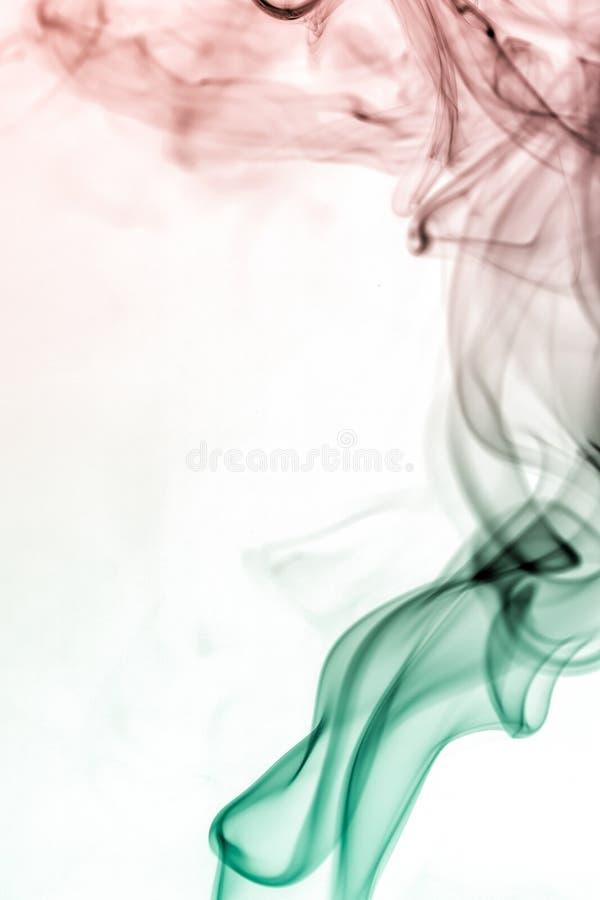 Colección colorida del humo fotografía de archivo