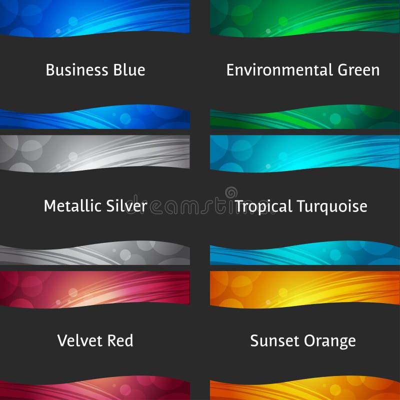 Colección colorida ondulada de los fondos stock de ilustración