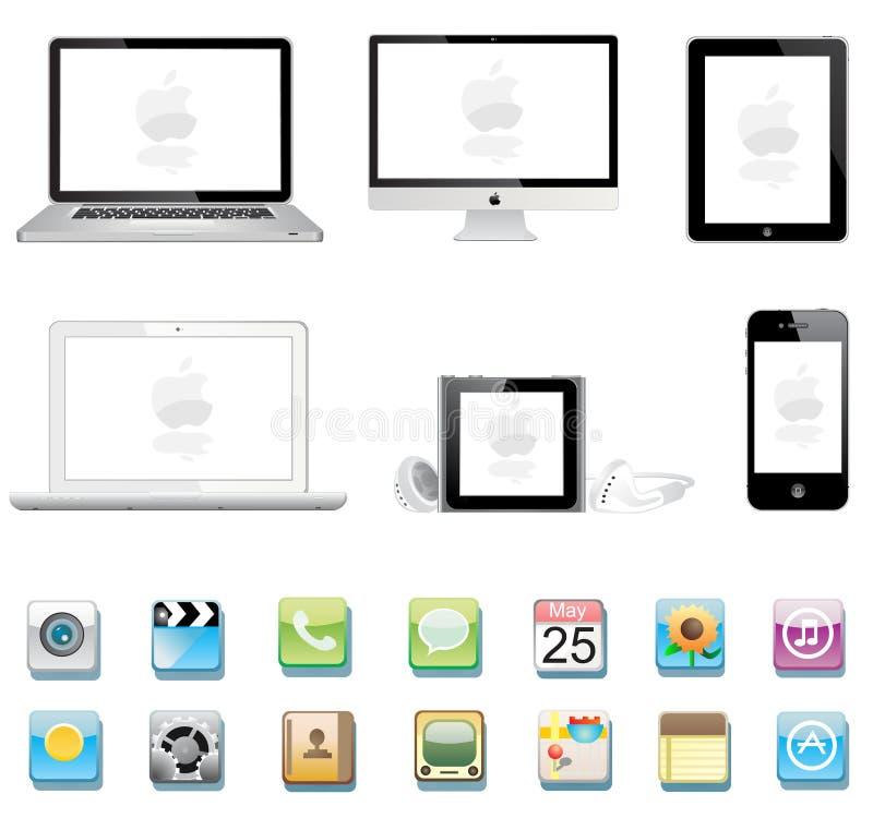Colección de Apple ilustración del vector