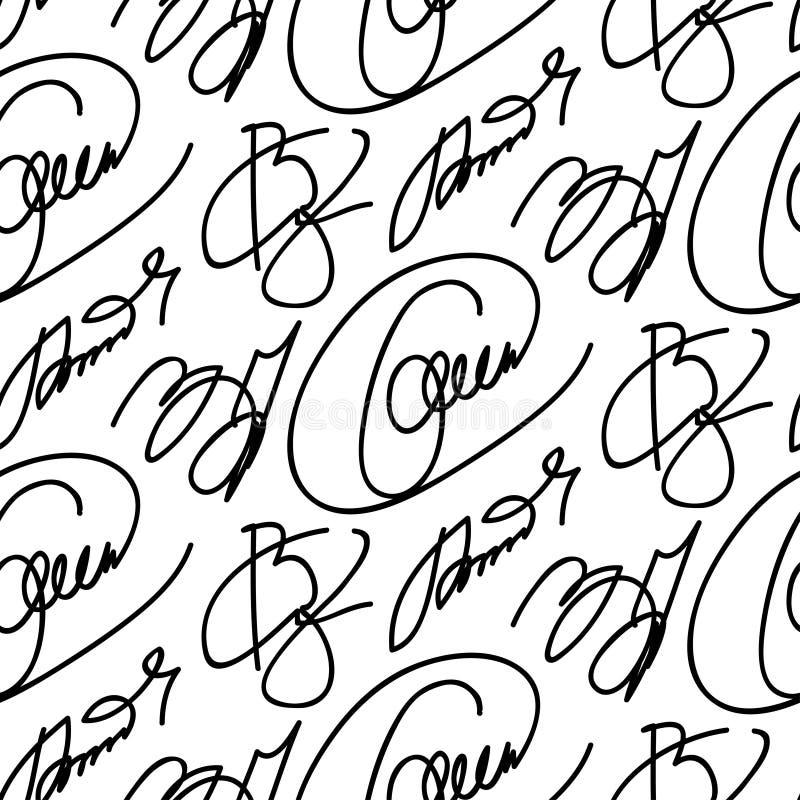 Colección de autógrafo ficticio de las firmas del vector stock de ilustración