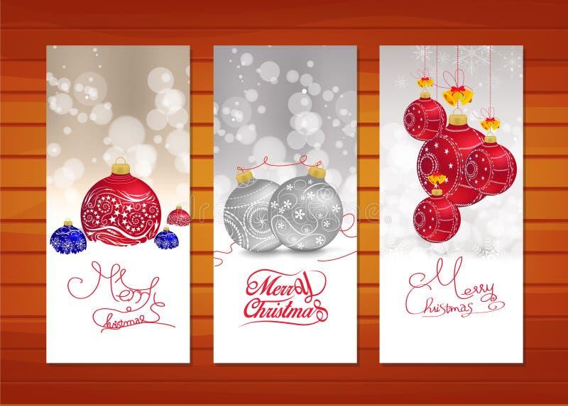 Colección de banderas de la Navidad stock de ilustración