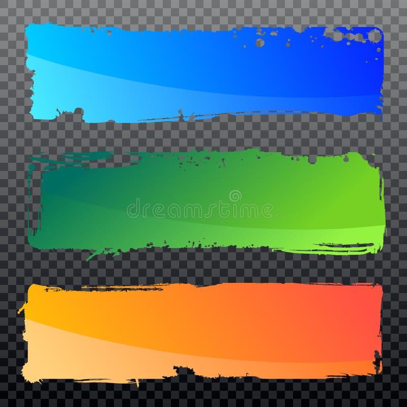 Colección de banderas del grunge del extracto del vector ilustración del vector