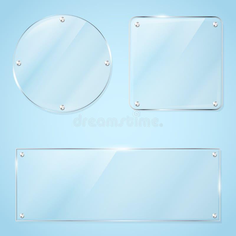 Colección de bastidores de cristal transparentes libre illustration