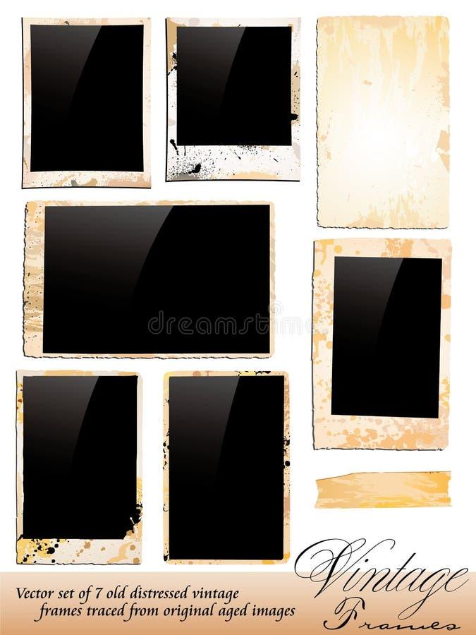 Colección de bastidores de la foto de la vendimia stock de ilustración