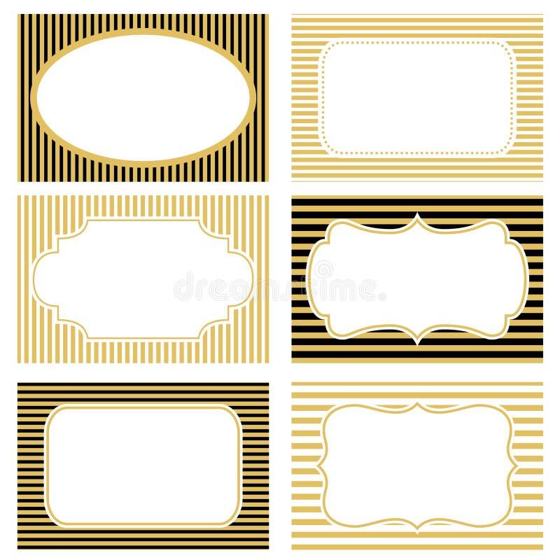 Colección de bastidores de la vendimia stock de ilustración