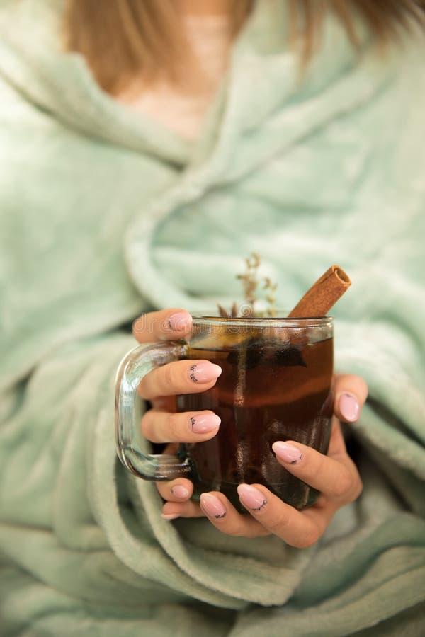 Colección de bebidas calientes en un vidrio con las paredes dobles aisladas Cacao, café, té imagenes de archivo