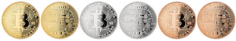 Colección de Bitcoin foto de archivo libre de regalías