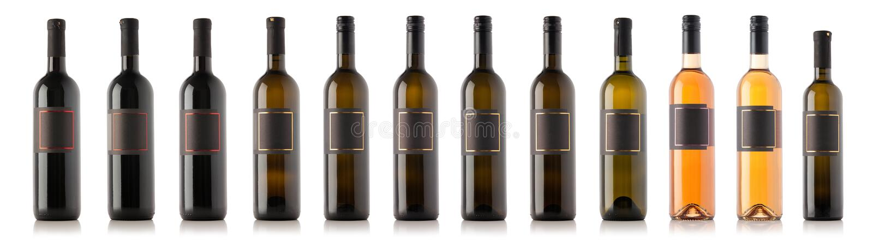 Colección de botella de vino foto de archivo libre de regalías