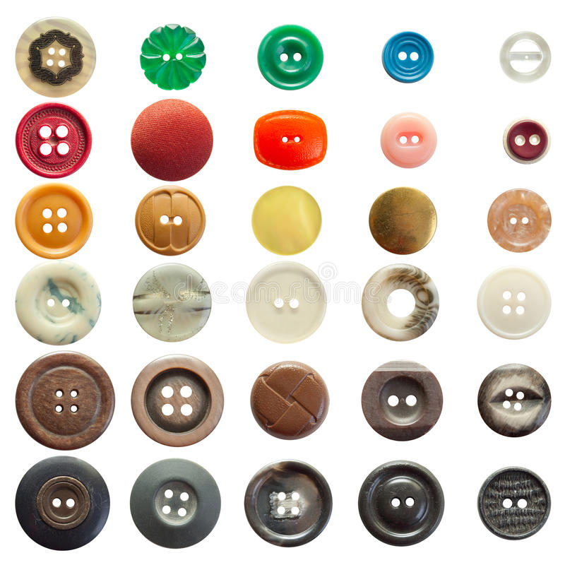 Colección de botones de costura de la vendimia fotografía de archivo libre de regalías