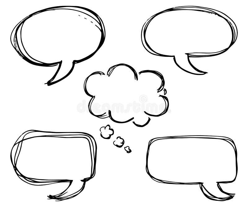 Colección de burbujas cómicas del discurso del estilo ilustración del vector