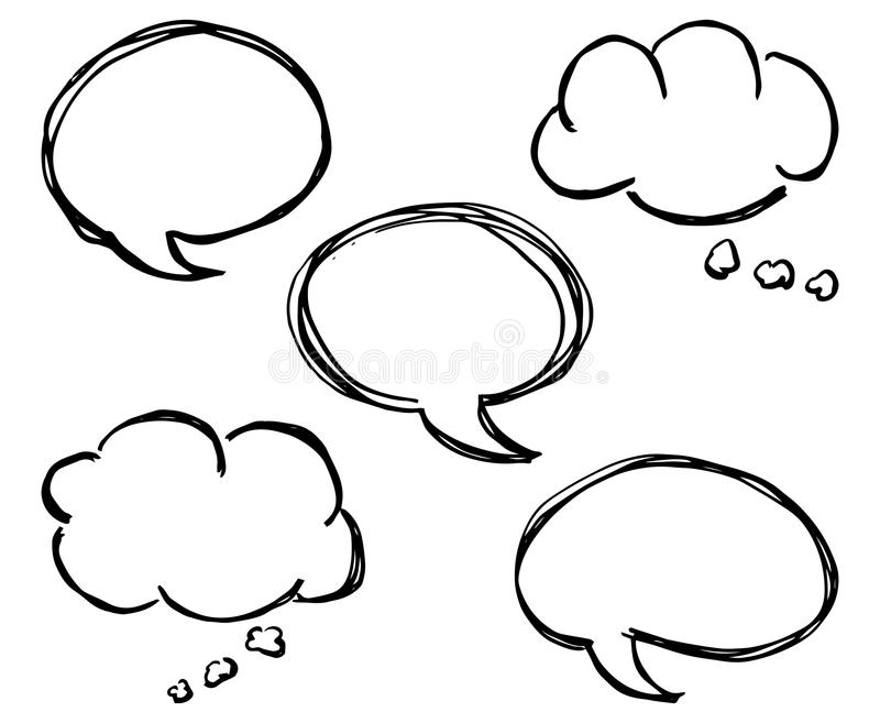 Colección de burbujas cómicas del discurso del estilo libre illustration