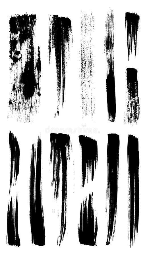 Colección de cepillos del movimiento del ilustrador stock de ilustración