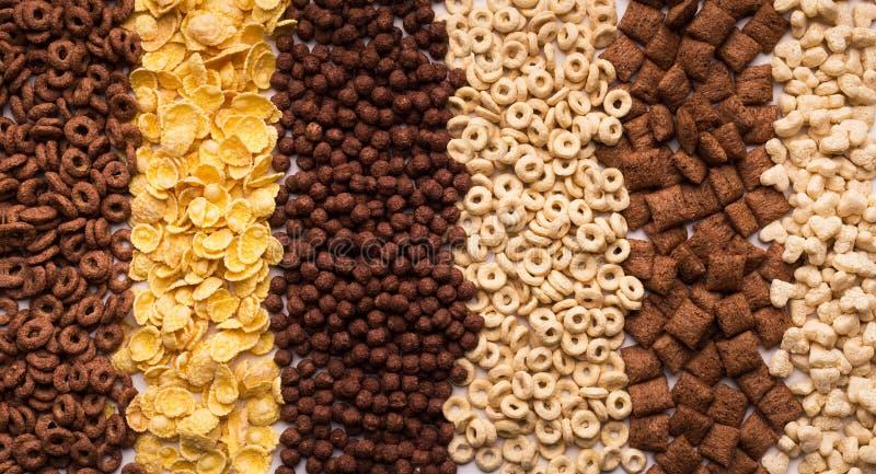 Colección de cereales diferentes, visión superior fotos de archivo libres de regalías